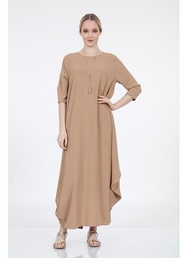 Vitrin Truvakar Kol Uzun Bol Form Elbise Vizon
